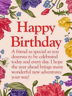 To my lovely friend happy birthday wishes card another fabulous to my special friend happy birthday wishes card m4hsunfo