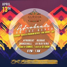 Chill by the beach and kickstart start your weekend at @gurshadubai Afrobeats on the palm this Thursday April 13th from 6pm to 1am with beats by DJ Shoni and Djembe by Samuel. #gursha #givemegursha #ethiopian #restaurant #clubvistamare #palmjumeirah #afronight #afromusic #dance #dancenight #gurshadubai #dubaievents #mydubai #afrobeats
