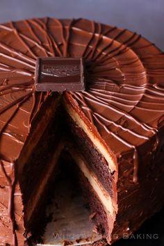 Super Fancy Chocolate Cheesecake Cake | Willow Bird Baking