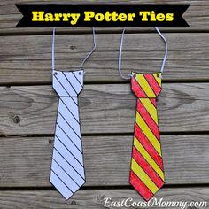 Gravata de harry porter para festa infantil. Free printable