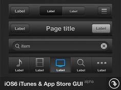 iOS6 iTunes & App Store GUI - FreePSD by Christophe Béghin