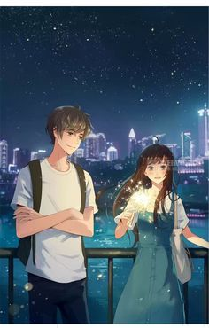 1 If there is no if. Couple Anime Manga, Anime Love Couple, Anime Couples Manga, Manga Anime, Art Anime Fille, Anime Art Girl, Anime Chibi, Anime Love Story, Cute Anime Coupes