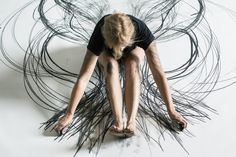 Heather Hansen, site specific kinetic drawings. Stunning!!!