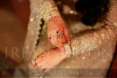 jewelry and sleeve detailing - pakistani wedding fashion