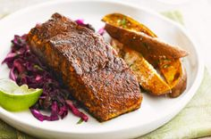 Chili-Rubbed Salmon with Vegetable Medley