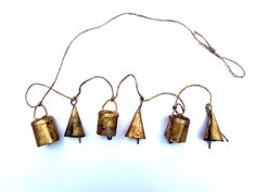 Small Bells Mixeds Windchime Vintage Retro Boho Bohemian Tiny and Cute beads color handmade Indian cow bell reggae door hanger doorbell