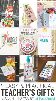 Practical gifts for teachers that come together quickly!