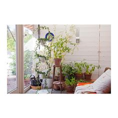 IKEA PS 2012 Plant stand with 3 plant pots IKEA A plant stand for 3 plants in a vertical row is perfect if you like plants but live in a small space.