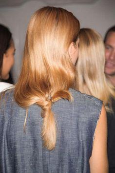The lowest, laziest ponytail