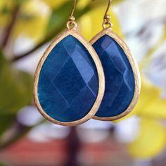 Ocean Blue Jade Jewel Drops #thealchemyshop #fashion #style #jewelry