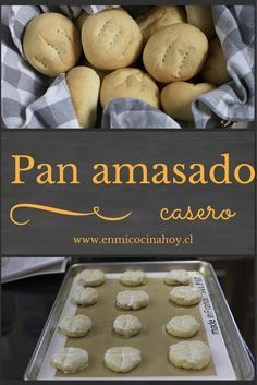 Kneaded bread is the bread of holidays in Chile or special days. It is a pleasure to do it and enjoy Chilean Recipes, Chilean Food, Comida Diy, Bread Recipes, Cooking Recipes, Salty Foods, Pan Dulce, Comida Latina, Tasty