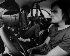 Camera crew inside 55 chevy from Two Lane Blacktop, James Taylor on the right. (1971)
