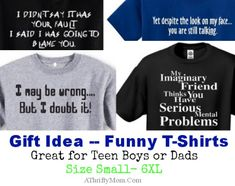 Funny tshirt for teen boys or dads, makes a great gift idea