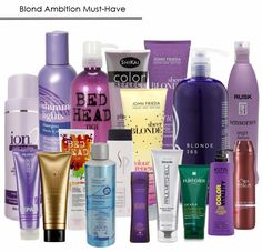 Purple shampoos are important for  blond hair tone correcting