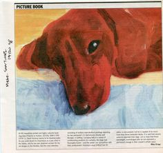 David Hockney's painting of one of his dachshunds