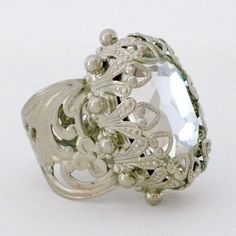 Vintage Crystal Statement Ring