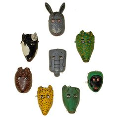 1stdibs.com | Pack of Wild Animals - Vintage Guatemalan Mask Collection