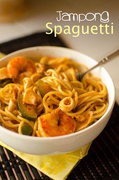 Japanese food recipies | Jjampong Spaguetti | Asian Food & Recipes