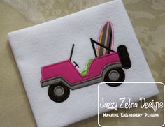 Jeep with Surf Board Applique