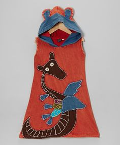 Red Hooded Swing Dress - Girls | Daily deals for moms, babies and kids  IT  HAS A DRAGON ON IT! A DRAGON!!!