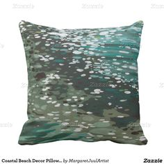 Coastal Beach Decor Pillow by M. Juul