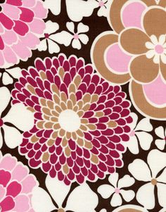 Flower Power Corduroy  FLOWER-CCD9469-BROWN