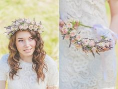bouquet and headband of lavender