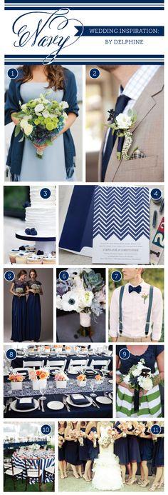 Navy Wedding Inspiration by Delphine