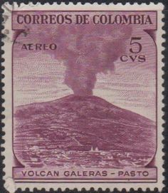 Colombia - Volcanoes on stamps theme. Volcanoes, Stamps, World, Books, Colombia, Seals, Libros, Book, Volcano