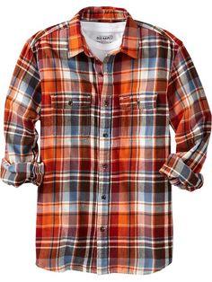 Old Navy | Men's Patterned Flannel Shirts