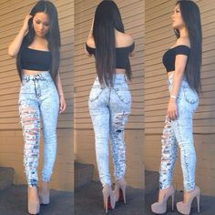 jeans una pierna