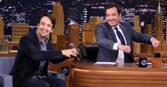 """Ahead of Lin-Manuel Miranda hosting 'SNL,' the 'Hamilton' star stopped by 'The Tonight Show' to play another round of """"Wheel of Freestyle."""""""