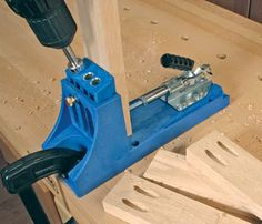 How to Use a Pocket Screw Jig in Woodwork Projects . . . . . . . . . . . . . . . . . . . . . . . . . . Pocket screws are a good way to put woodworking projects together. Family Handyman editor, Jeff Gorton, shows you how to use a $40 jig (Kreig jig) that makes using pocket screws to assemble woodworking projects very easy -----> http://www.familyhandyman.com/video/v/63610683/how-to-use-a-pocket-screw-jig-in-woodwork-projects.htm