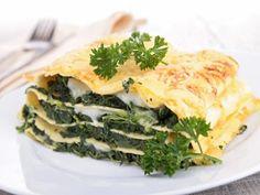 Lasagnes aux épinards d'aucy, chèvre et miel
