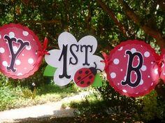 Birthday banner-ladybug