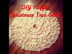 DIY Christmas Tree Ruffle Skirt (NO SEW)