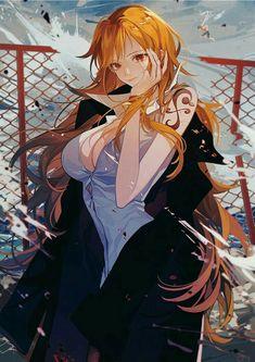 Gorgeous Nami [One Piece] One Piece Manga, One Piece Ace, One Piece Series, One Piece Fanart, One Piece World, One Piece Luffy, Cool Anime Girl, Kawaii Anime Girl, Anime Art Girl