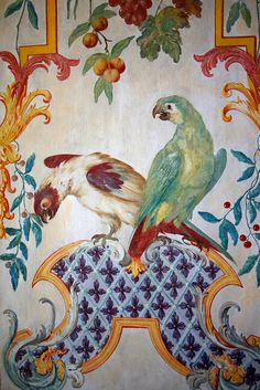 wall mural detail - Schleissheim Palace Munich, Bavaria, Germany