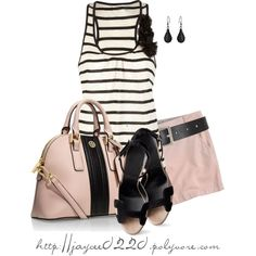 """""""Black and Pink"""", created by jaycee0220 on Polyvore"""