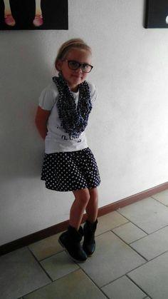 Rok uit Allemaal Rokjes van Mme Zsazsa, sjaal armbreien (7 jaar) Prepping, Mini, Style, Fashion, Swag, Moda, Stylus, La Mode, Fasion