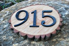 Rustic Wood House Address Sign
