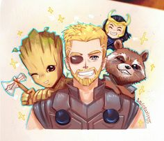 Image in cute avengers stuff ❤ marvel collection by ace. Marvel Memes, Marvel Avengers, Marvel Drawings, The Avengers, Dc Comics, Fanart, Loki Thor, Anime, Avengers Infinity War