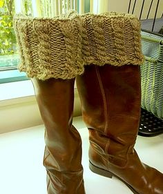 Quick boot toppers » Knit Picks Knitting Blog.  This boot cuff makes the most sense to me ... just not crazy about the pattern.  BUT, this too can be tweaked.