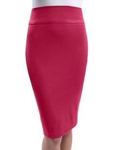 LE3NO Womens Stretchy High Waisted Pencil Tube Midi Skirt