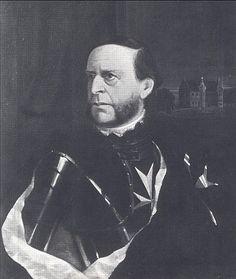 August von Haxthausen, Onkel der Droste, Ölgemälde von Hugo Denz, 1860