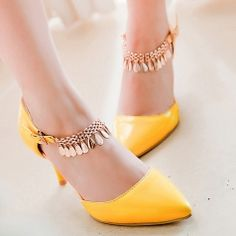 Pointed Closed Toe Pendent Buckle Strap High-Heeled Prom Sandals Shoes For Women