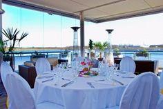 Golden Catering Strandhaus Norderstedt Hochzeit Hamburg - Tisch mit Ausblick