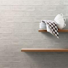 Antika Aktual Gris 6,5x25   kakelhornan.se Gray Kitchen Backsplash, Kitchen Tiles, Backsplash Tile, Kitchen Reno, Wall Tiles, Caffe Bar, Simple Kitchen Design, Tile Suppliers, Custom Shower