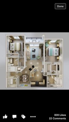 A layout found online to give ideas for building the sims houses!