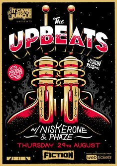 The Upbeats Poster by Ian Jepson, via Behance